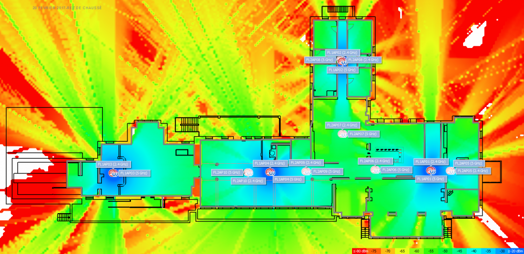 Our heat maps allow us to ensure consistent coverage before we deploy your wireless network.