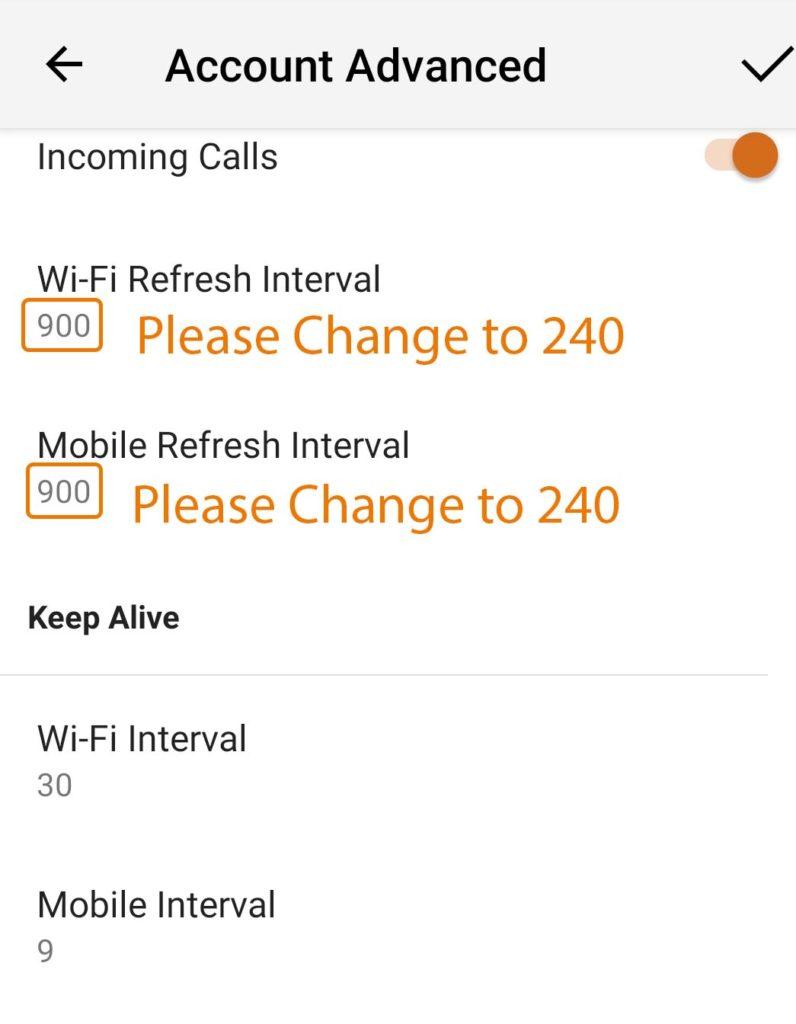 Configuration de l'application mobile Bria 5